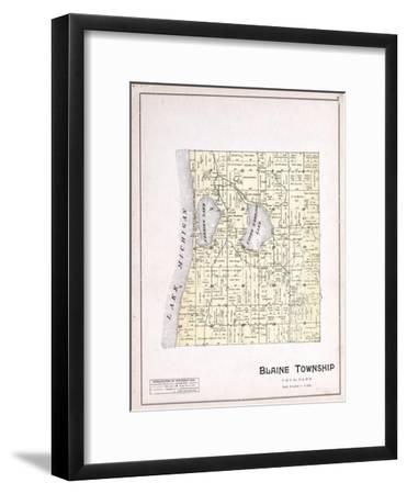 1901, Blaine Township, Herring Lake, Lake Michigan, Michigan, United States--Framed Giclee Print
