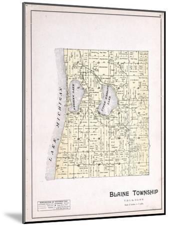 1901, Blaine Township, Herring Lake, Lake Michigan, Michigan, United States--Mounted Giclee Print