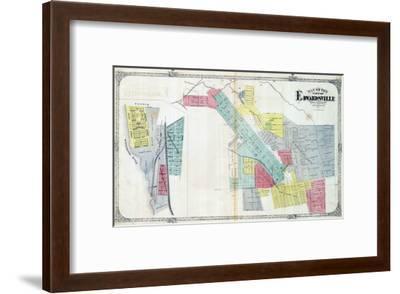 1873, Edwardsville, Mississippi River, Illinois, United States--Framed Giclee Print