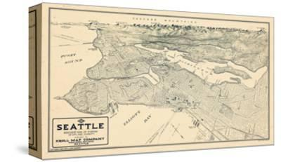 1925, Seattle Bird's Eye View, Washington, United States--Stretched Canvas Print