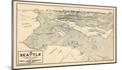 1925, Seattle Bird's Eye View, Washington, United States--Mounted Giclee Print