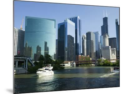 Motorboats in a River, Chicago River, Chicago, Cook County, Illinois, USA 2010--Mounted Photographic Print