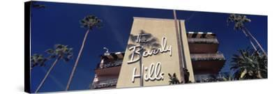 Low Angle View of a Hotel, Beverly Hills Hotel, Beverly Hills, Los Angeles County, California, USA--Stretched Canvas Print