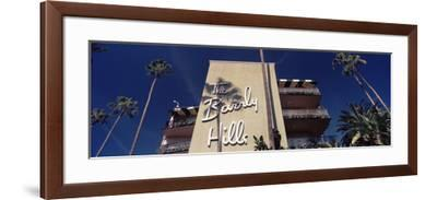 Low Angle View of a Hotel, Beverly Hills Hotel, Beverly Hills, Los Angeles County, California, USA--Framed Photographic Print