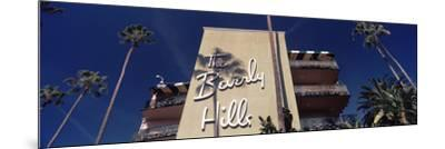 Low Angle View of a Hotel, Beverly Hills Hotel, Beverly Hills, Los Angeles County, California, USA--Mounted Photographic Print