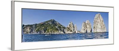 Rock Formations in the Sea, Faraglioni, Capri, Naples, Campania, Italy--Framed Photographic Print