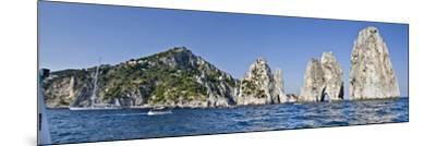 Rock Formations in the Sea, Faraglioni, Capri, Naples, Campania, Italy--Mounted Photographic Print