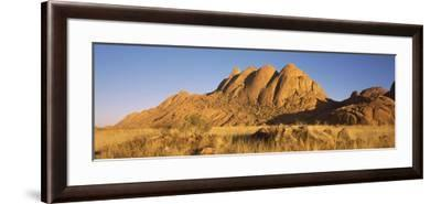 Rock Formations in a Desert at Dawn, Spitzkoppe, Namib Desert, Namibia--Framed Photographic Print