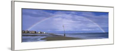 Rainbow over the Sea, Portobello, Edinburgh, Scotland--Framed Photographic Print