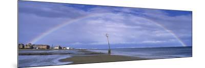 Rainbow over the Sea, Portobello, Edinburgh, Scotland--Mounted Photographic Print