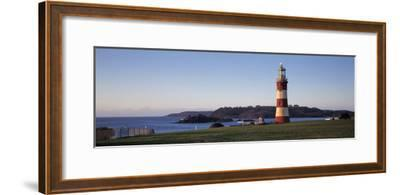 Lighthouse on the Coast, Smeaton's Lighthouse, Plymouth Hoe, Plymouth, Devon, England--Framed Photographic Print