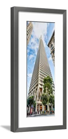 Low Angle View of Skyscrapers, Transamerica Pyramid, San Francisco, California, USA--Framed Photographic Print
