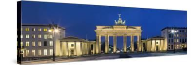 City Gate Lit Up at Night, Brandenburg Gate, Pariser Platz, Berlin, Germany--Stretched Canvas Print