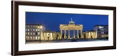 City Gate Lit Up at Night, Brandenburg Gate, Pariser Platz, Berlin, Germany--Framed Photographic Print