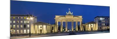 City Gate Lit Up at Night, Brandenburg Gate, Pariser Platz, Berlin, Germany--Mounted Photographic Print