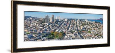 High Angle View of a City, Coit Tower, Telegraph Hill, San Francisco, California, USA--Framed Photographic Print