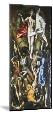 Resurrection of Christ, 1605-10-El Greco-Mounted Giclee Print