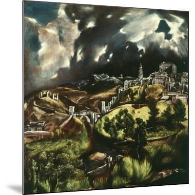 View of Toledo, Spain, 1595-1610-El Greco-Mounted Giclee Print