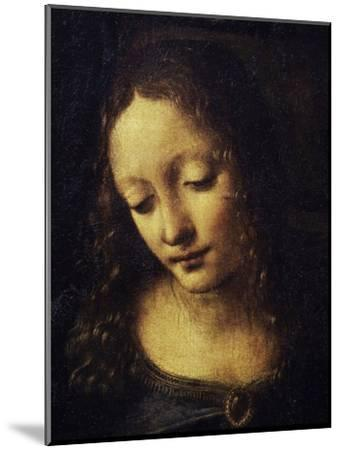 The Virgin of the Rocks Detail of Virgin-Leonardo da Vinci-Mounted Giclee Print