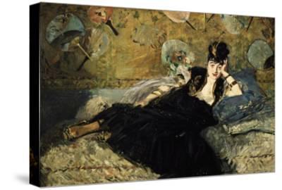 La Dame Aux Eventails, Lady with Fans, 1873-Edouard Manet-Stretched Canvas Print