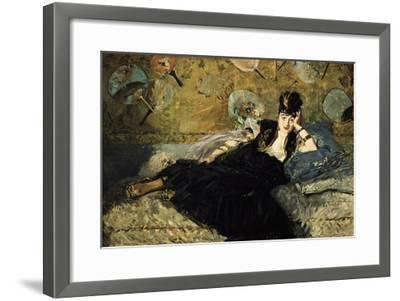 La Dame Aux Eventails, Lady with Fans, 1873-Edouard Manet-Framed Giclee Print