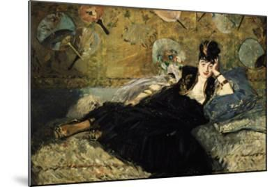 La Dame Aux Eventails, Lady with Fans, 1873-Edouard Manet-Mounted Giclee Print