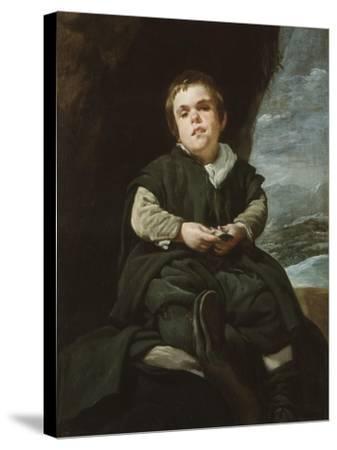 The Child of Vallecas Francisco Lezcano, C. 1637-Diego Velazquez-Stretched Canvas Print