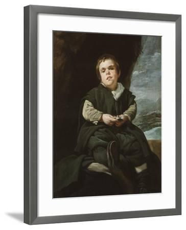 The Child of Vallecas Francisco Lezcano, C. 1637-Diego Velazquez-Framed Giclee Print