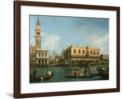 View of Basin of St Marks Square, Venice-Canaletto-Framed Giclee Print