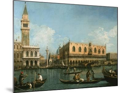 View of Basin of St Marks Square, Venice-Canaletto-Mounted Giclee Print