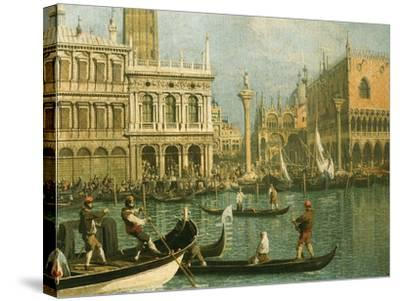 Ducal Palace and St Marks Venice Detail-Canaletto-Stretched Canvas Print