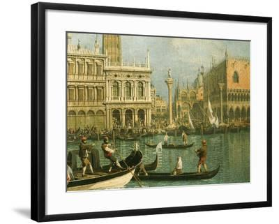 Ducal Palace and St Marks Venice Detail-Canaletto-Framed Giclee Print
