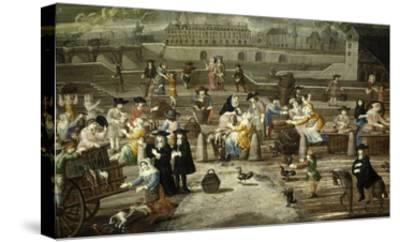 Game and Bread Market Paris by Unknown French Artist 17th Century--Stretched Canvas Print