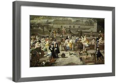 Game and Bread Market Paris by Unknown French Artist 17th Century--Framed Giclee Print