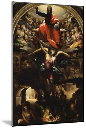 Archangel Michael Chasing Rebel Angels-Domenico Beccafumi-Mounted Giclee Print