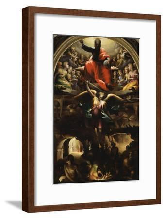 Archangel Michael Chasing Rebel Angels-Domenico Beccafumi-Framed Giclee Print