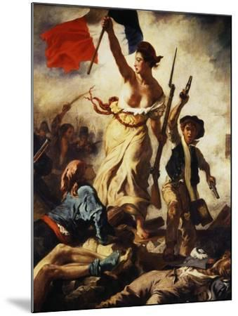 Liberty Leading the People, July 28, 1830, Detail-Eugene Delacroix-Mounted Giclee Print