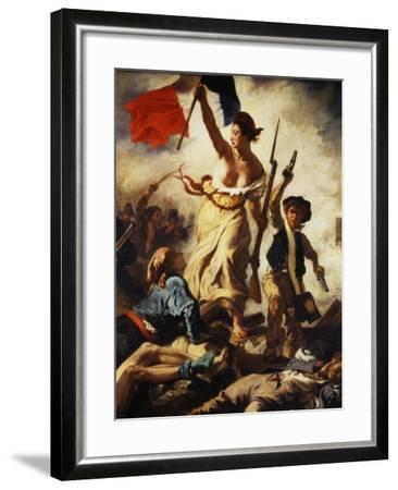 Liberty Leading the People, July 28, 1830, Detail-Eugene Delacroix-Framed Giclee Print