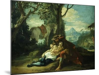 The Good Samaritan - Samaritan Helping Wounded Robbed Man-Domenico Fontebasso-Mounted Giclee Print