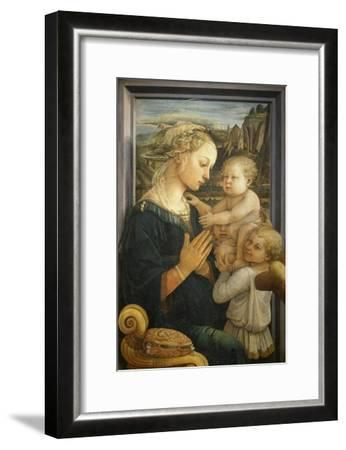 Madonna and Child with Two Angels-Fra Filippo Lippi-Framed Giclee Print