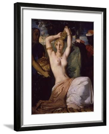 Esther Preparing Herself for Presentation to King Ahasuerus (Xerxes) Called Toilet of Esther, 1841-Theodore Chasseriau-Framed Giclee Print