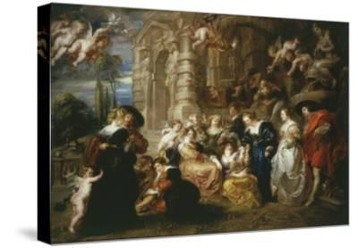The Garden of Love 1633 198X173Cm-Peter Paul Rubens-Stretched Canvas Print
