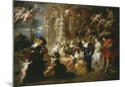 The Garden of Love 1633 198X173Cm-Peter Paul Rubens-Mounted Giclee Print