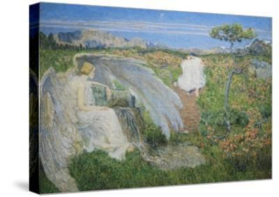 Love at the Spring of Life, 19th Century-Giovanni Segantini-Stretched Canvas Print