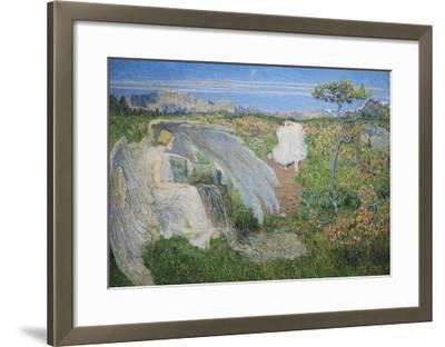 Love at the Spring of Life, 19th Century-Giovanni Segantini-Framed Giclee Print
