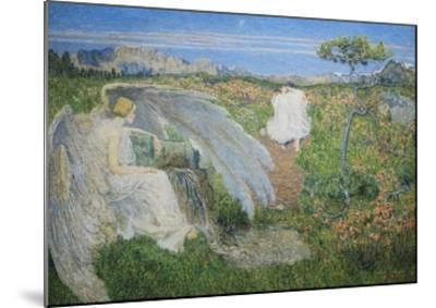 Love at the Spring of Life, 19th Century-Giovanni Segantini-Mounted Giclee Print