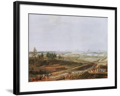 Investment of Yorktown, America by Americans and French in 1781 Painted 1784-Louis Nicolas van Blarenberghe-Framed Giclee Print