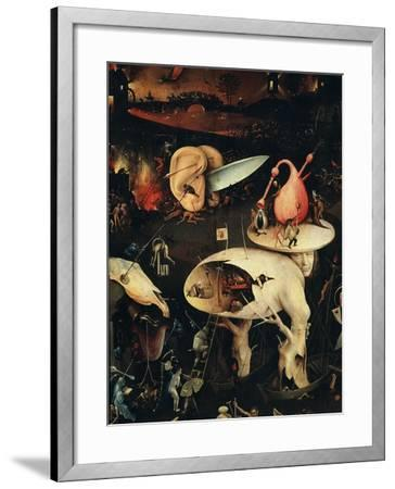 Hell, Right-Hand Panel of the Garden of Earthly Delights, C. 1503-04 Triptych (Detail)-Hieronymus Bosch-Framed Giclee Print