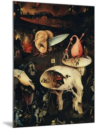 Hell, Right-Hand Panel of the Garden of Earthly Delights, C. 1503-04 Triptych (Detail)-Hieronymus Bosch-Mounted Giclee Print