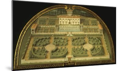 La Petraia Villa, Built for the De Medici Family, Tuscany, Italy, from Series-Giusto Utens-Mounted Giclee Print